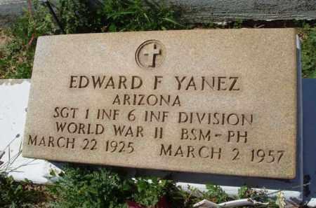 YANEZ, EDWARD F. - Pima County, Arizona | EDWARD F. YANEZ - Arizona Gravestone Photos