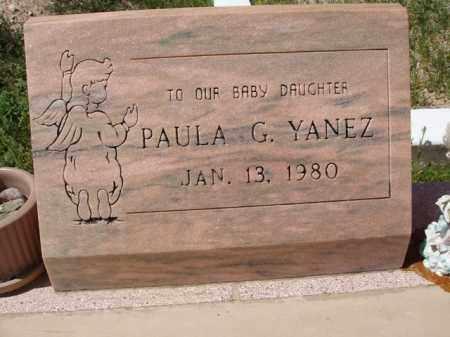 YANEZ, PAULA G. - Pima County, Arizona   PAULA G. YANEZ - Arizona Gravestone Photos