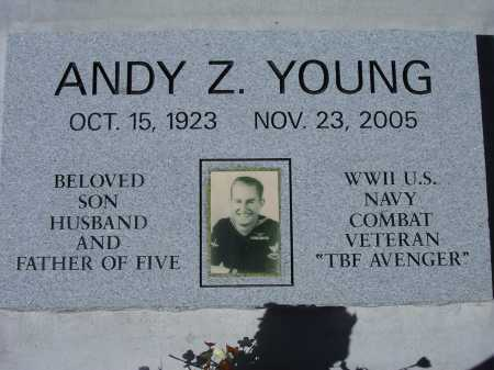 YOUNG, ANDY Z. - Pima County, Arizona   ANDY Z. YOUNG - Arizona Gravestone Photos