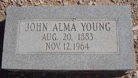 YOUNG, JOHN ALMA - Pima County, Arizona   JOHN ALMA YOUNG - Arizona Gravestone Photos