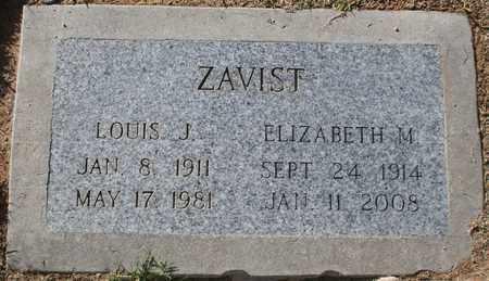 ZAVIST, LOUIS J - Pima County, Arizona | LOUIS J ZAVIST - Arizona Gravestone Photos