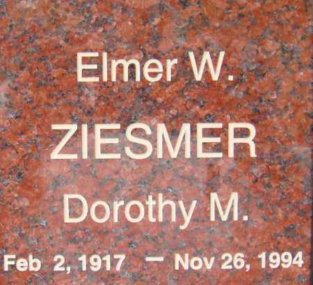 ZIESMER, ELMER W. - Pima County, Arizona | ELMER W. ZIESMER - Arizona Gravestone Photos