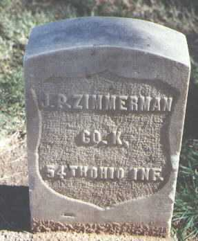 ZIMMERMAN, J. P. - Pima County, Arizona | J. P. ZIMMERMAN - Arizona Gravestone Photos