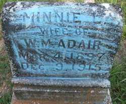 ADAIR, MINNIE L - Cleveland County, Arkansas | MINNIE L ADAIR - Arkansas Gravestone Photos
