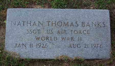 BANKS (VETERAN WWII), NATHAN THOMAS - Cleveland County, Arkansas   NATHAN THOMAS BANKS (VETERAN WWII) - Arkansas Gravestone Photos