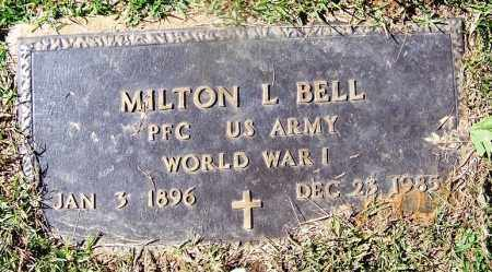 BELL (VETERAN WWI), MILTON L - Cleveland County, Arkansas   MILTON L BELL (VETERAN WWI) - Arkansas Gravestone Photos