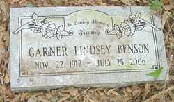 LINDSEY BENSON, GARNER - Cleveland County, Arkansas   GARNER LINDSEY BENSON - Arkansas Gravestone Photos