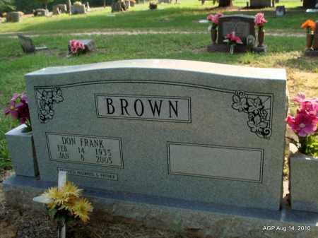 BROWN, DON FRANK - Cleveland County, Arkansas | DON FRANK BROWN - Arkansas Gravestone Photos