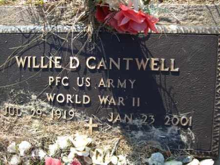 CANTWELL  (VETERAN WWII), WILLIE D. - Cleveland County, Arkansas | WILLIE D. CANTWELL  (VETERAN WWII) - Arkansas Gravestone Photos