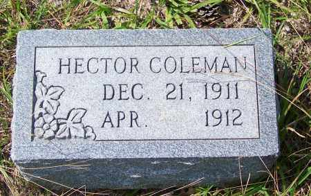 COLEMAN, HECTOR - Cleveland County, Arkansas | HECTOR COLEMAN - Arkansas Gravestone Photos