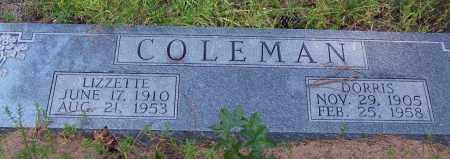 COLEMAN, LIZZETTE - Cleveland County, Arkansas | LIZZETTE COLEMAN - Arkansas Gravestone Photos