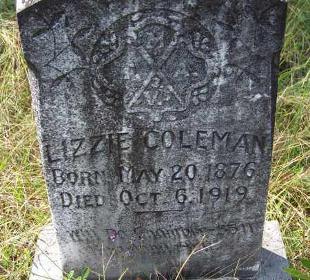 COLEMAN, LIZZIE - Cleveland County, Arkansas | LIZZIE COLEMAN - Arkansas Gravestone Photos