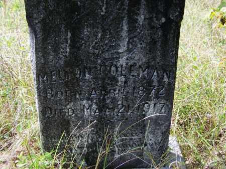COLEMAN, MELTON - Cleveland County, Arkansas   MELTON COLEMAN - Arkansas Gravestone Photos