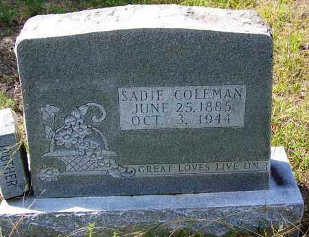 COLEMAN, SADIE - Cleveland County, Arkansas   SADIE COLEMAN - Arkansas Gravestone Photos
