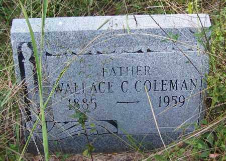 COLEMAN, WALLACE C - Cleveland County, Arkansas | WALLACE C COLEMAN - Arkansas Gravestone Photos