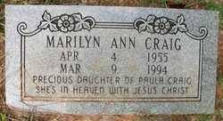 CRAIG, MARILYN ANN - Cleveland County, Arkansas | MARILYN ANN CRAIG - Arkansas Gravestone Photos