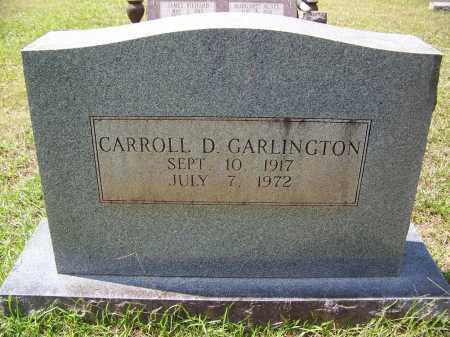 GARLINGTON, CARROLL D - Cleveland County, Arkansas   CARROLL D GARLINGTON - Arkansas Gravestone Photos