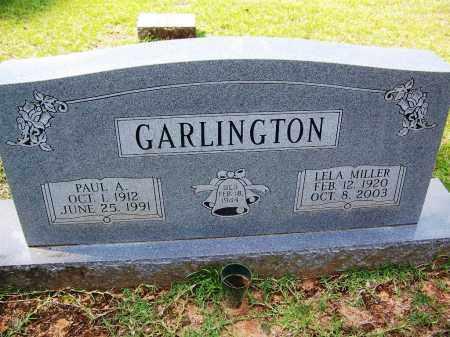 MILLER GARLINGTON, LELA - Cleveland County, Arkansas | LELA MILLER GARLINGTON - Arkansas Gravestone Photos