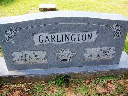 GARLINGTON, LELA - Cleveland County, Arkansas | LELA GARLINGTON - Arkansas Gravestone Photos