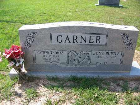 GARNER, OATHER THOMAS - Cleveland County, Arkansas | OATHER THOMAS GARNER - Arkansas Gravestone Photos