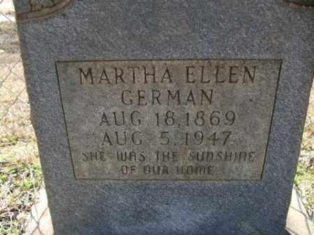 GERMAN, MARTHA ELLEN - Cleveland County, Arkansas | MARTHA ELLEN GERMAN - Arkansas Gravestone Photos