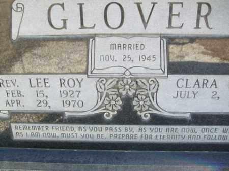 GLOVER, LEE ROY - Cleveland County, Arkansas | LEE ROY GLOVER - Arkansas Gravestone Photos