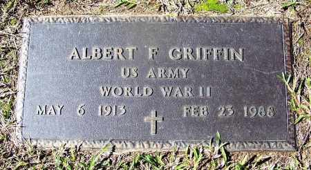 GRIFFIN (VETERAN WWII), ALBERT F - Cleveland County, Arkansas | ALBERT F GRIFFIN (VETERAN WWII) - Arkansas Gravestone Photos