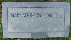 ATKINSON LEDBETTER, MARY - Cleveland County, Arkansas | MARY ATKINSON LEDBETTER - Arkansas Gravestone Photos