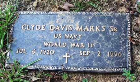 MARKS, SR (VETERAN WWII), CLYDE DAVIS - Cleveland County, Arkansas | CLYDE DAVIS MARKS, SR (VETERAN WWII) - Arkansas Gravestone Photos