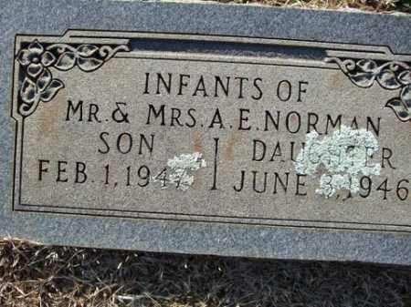 NORMAN, INFANT SON - Cleveland County, Arkansas | INFANT SON NORMAN - Arkansas Gravestone Photos