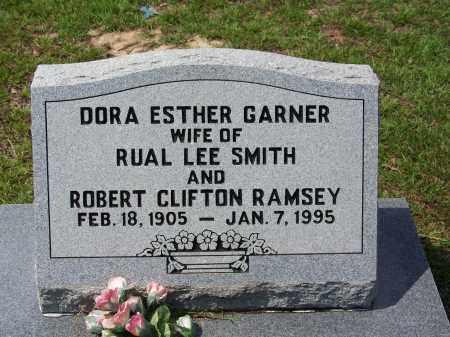 GARNER RAMSEY, DORA ESTHER - Cleveland County, Arkansas   DORA ESTHER GARNER RAMSEY - Arkansas Gravestone Photos