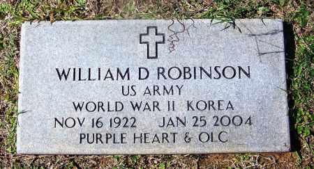 ROBINSON (VETERAN 2 WARS), WILLIAM D - Cleveland County, Arkansas | WILLIAM D ROBINSON (VETERAN 2 WARS) - Arkansas Gravestone Photos