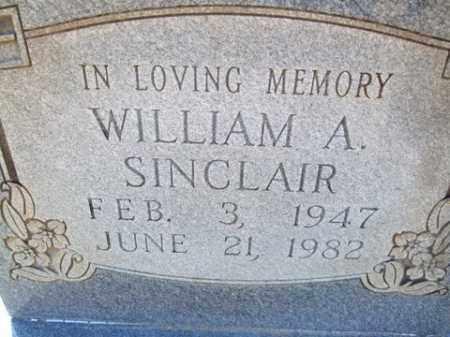 SINCLAIR, WILLIAM A. - Cleveland County, Arkansas   WILLIAM A. SINCLAIR - Arkansas Gravestone Photos
