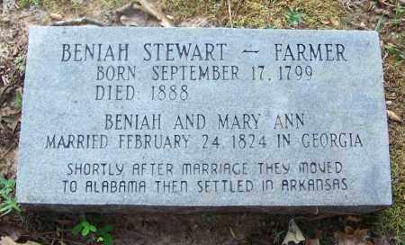 STEWART, BENIAH - Cleveland County, Arkansas   BENIAH STEWART - Arkansas Gravestone Photos