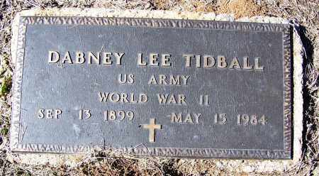 TIDBALL (VETERAN WWII), DABNEY LEE - Cleveland County, Arkansas | DABNEY LEE TIDBALL (VETERAN WWII) - Arkansas Gravestone Photos