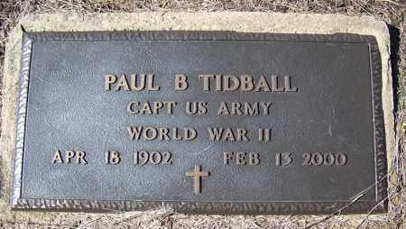 TIDBALL (VETERAN WWII), PAUL B - Cleveland County, Arkansas | PAUL B TIDBALL (VETERAN WWII) - Arkansas Gravestone Photos