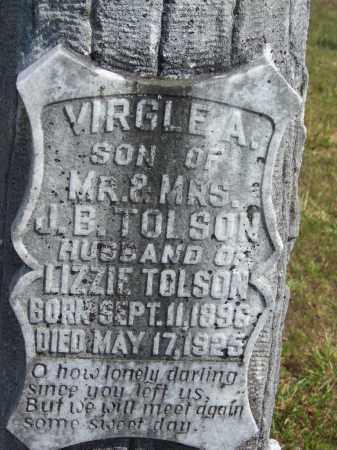 TOLSON, VIRGLE A - Cleveland County, Arkansas | VIRGLE A TOLSON - Arkansas Gravestone Photos
