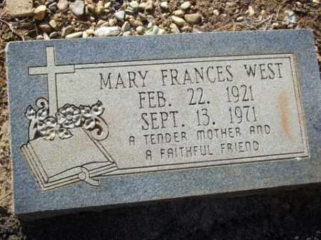 WEST, MARY FRANCES - Cleveland County, Arkansas   MARY FRANCES WEST - Arkansas Gravestone Photos