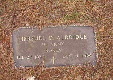 ALDRIDGE (VETERAN KOR), HERSHEL D - Columbia County, Arkansas   HERSHEL D ALDRIDGE (VETERAN KOR) - Arkansas Gravestone Photos