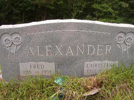 ALEXANDER, FRED - Columbia County, Arkansas | FRED ALEXANDER - Arkansas Gravestone Photos