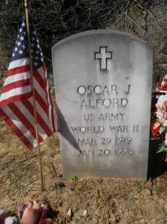 ALFORD (VETERAN WWII), OSCAR J - Columbia County, Arkansas | OSCAR J ALFORD (VETERAN WWII) - Arkansas Gravestone Photos