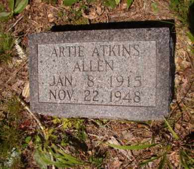 ATKINS ALLEN, ARTIE - Columbia County, Arkansas | ARTIE ATKINS ALLEN - Arkansas Gravestone Photos