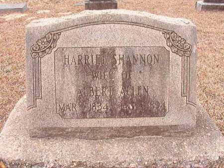 SHANNON ALLEN, HARRIET - Columbia County, Arkansas | HARRIET SHANNON ALLEN - Arkansas Gravestone Photos