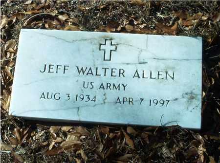 ALLEN (VETERAN), JEFF WALTER - Columbia County, Arkansas | JEFF WALTER ALLEN (VETERAN) - Arkansas Gravestone Photos