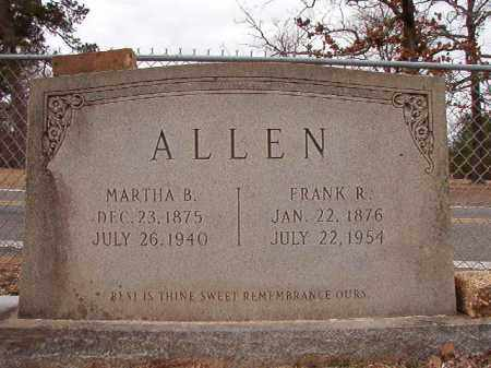 ALLEN, MARTHA B - Columbia County, Arkansas | MARTHA B ALLEN - Arkansas Gravestone Photos