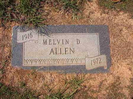 ALLEN, MELVIN D - Columbia County, Arkansas   MELVIN D ALLEN - Arkansas Gravestone Photos