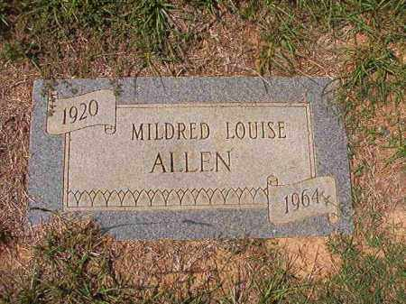 ALLEN, MILDRED LOUISE - Columbia County, Arkansas | MILDRED LOUISE ALLEN - Arkansas Gravestone Photos