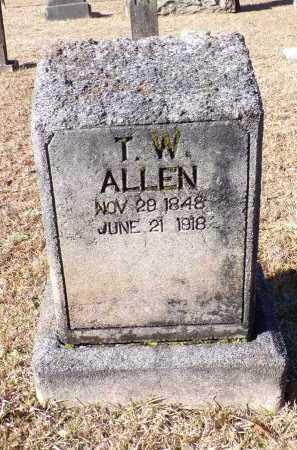 ALLEN, T W - Columbia County, Arkansas | T W ALLEN - Arkansas Gravestone Photos