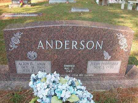 ANDERSON, ALTON O - Columbia County, Arkansas | ALTON O ANDERSON - Arkansas Gravestone Photos