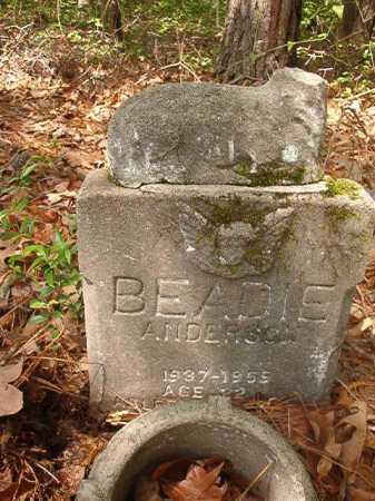 ANDERSON, BEADIE - Columbia County, Arkansas | BEADIE ANDERSON - Arkansas Gravestone Photos